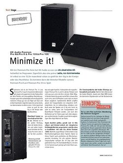 Soundcheck HK Audio Premium Pro 8A/Pro 8 & Pro 10XA/Pro 10X