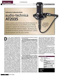 KEYS audio-technica AT2035