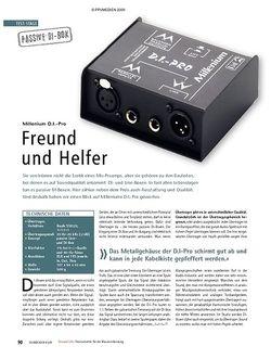 Soundcheck Test: Millenium D.I.-Pro – Freund und Helfer