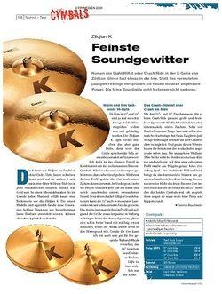 DrumHeads Instrumente & Technik: Zildjian K