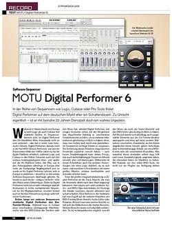 KEYS MOTU Digital Performer 6