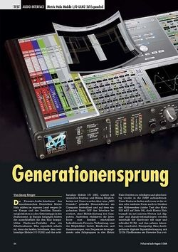 Professional Audio Generationensprung: Metric Halo Mobile I/O ULN2 2d Expanded