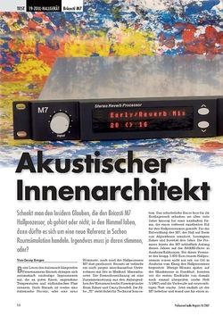 Professional Audio Akustischer Innenarchitekt Bricasti M7