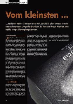 Professional Audio Vom kleinsten... Focal CMS 50