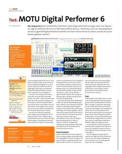 Beat Test: MOTU Digital Performer 6