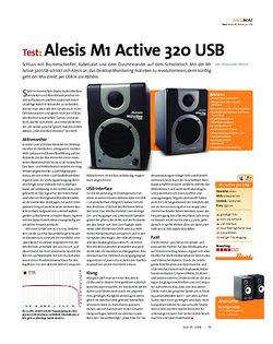 Beat Test: Alesis M1 Active 320 USB
