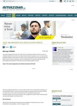 Amazona.de Test: Behringer HPX 2000 DJ Kopfhörer