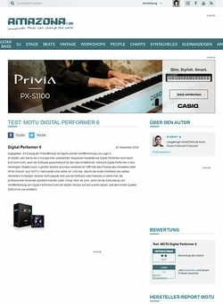 Amazona.de Test: MOTU Digital Performer 6