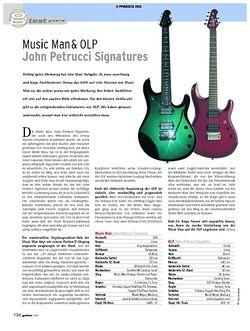 Guitar Test: Music Man & OLP - John Petrucci Signatures