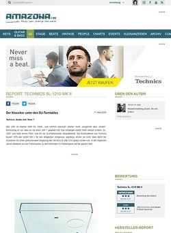 Amazona.de Report: Technics SL-1210 MK II