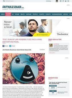 Amazona.de Test: Dunlop, Jimi Hendrix Fuzz Face, Gitarren-Verzerrerpedal