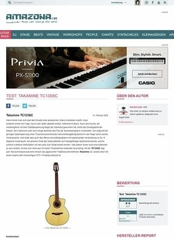Amazona.de Test: Takamine TC135SC