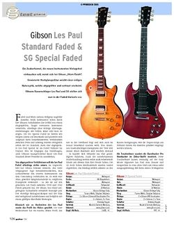 Guitar Test: Gibson Les Paul Standard Faded & SG Special Faded
