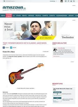 Amazona.de Test: Fender Mexico 60`s Classic Jazz Bass
