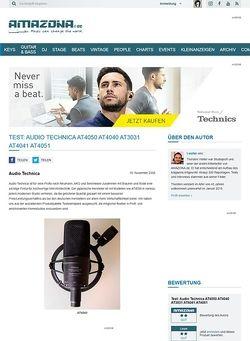 Amazona.de Test: Audio Technica AT4050 AT4040 AT3031 AT4041 AT4051