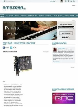 Amazona.de Test: RME Hammerfall HDSP 9652