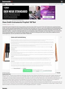 Bonedo.de Dave Smith Instruments Prophet '08