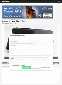 Bonedo.de Dunlop Cry Baby GBC95