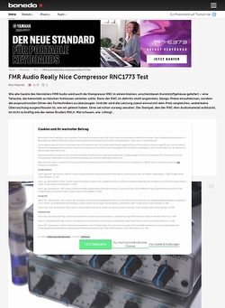 Bonedo.de FMR Audio Really Nice Compressor RNC 1773