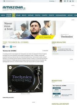 Amazona.de Test: Technics SL-1210MK5