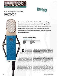 Recording Magazin Retrofon – Blue Microphones Blueberry