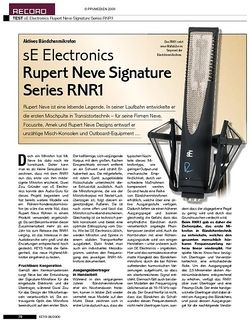 KEYS sE Electronics Rupert Neve Signature Series RNR1