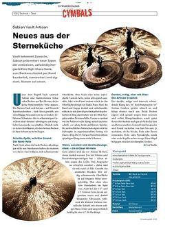 DrumHeads Instrumente & Technik: Sabian Vault Artisan