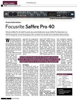 KEYS Focusrite Saffire Pro 40