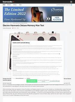 Bonedo.de ELECTRO HARMONIX Deluxe Memory Man