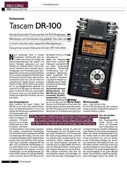 KEYS Tascam DR-100