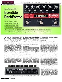 KEYS Eventide PitchFactor