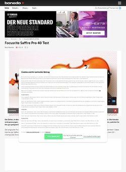 Bonedo.de Focusrite Saffire Pro 40