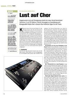 Tastenwelt Test: TC-Helicon VoiceLive 2 - Lust auf Chor
