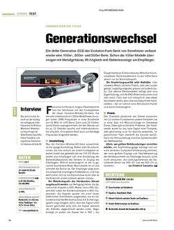Tastenwelt Test: Sennheiser ew 135 G3 - Generationswechsel