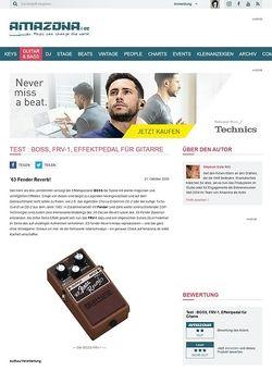 Amazona.de Test : BOSS, FRV-1, Effektpedal für Gitarre