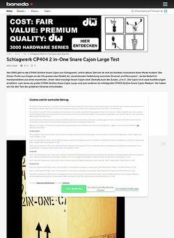 Bonedo.de Schlagwerk CP404 2IN-ONE Snare Cajon