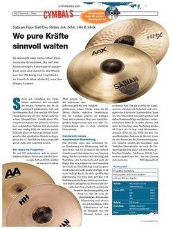 DrumHeads Instrumente & Technik: Sabian Raw Bell Dry Rides AA, AAX, HH & HHX