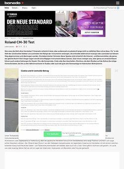 Bonedo.de Roland CM-30