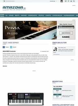 Amazona.de Test: AKAI MPK61
