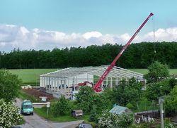Bau des neuen Logistik-Centers