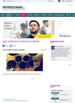 Test: Alesis DM 10 X Mesh Kit, E-Drums
