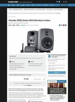 Genelec 8000 Series SAM Monitors