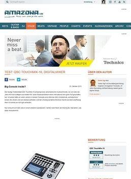 Test: QSC TouchMix-16, Digitalmixer