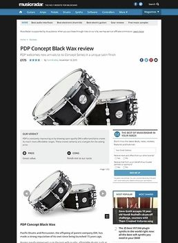 "PDP 13""x07"" Black Wax Snare"
