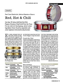 Pearl Chad Smith Ltd. Edition Signature Snares