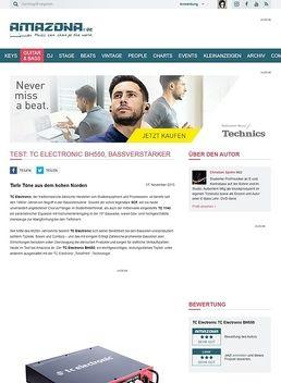 Test: TC Electronic BH550, Bassverstärker