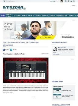Test: Yamaha PSR-S970, Entertainer Keyboard