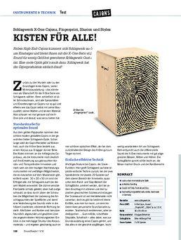Schlagwerk X-One Cajons, Fingerprint, Illusion und Styles