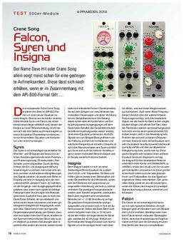 Crane Song Falcon, Syren und Insigna
