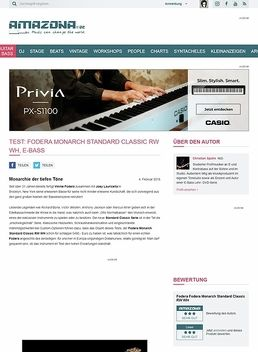 Test: Fodera Monarch Standard Classic RW WH, E-Bass
